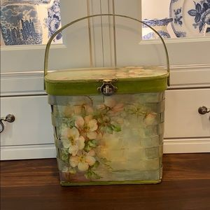 Vintage Decoupage Basket Purse